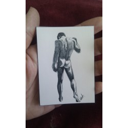 ACEO print of Nude Male