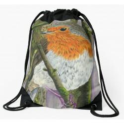 Drawstring bag. Robin