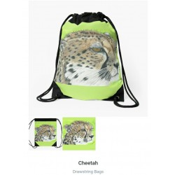 Drawstring bag Fluffy Cat