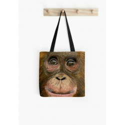 Small tote bag, with drawing of Mother and Baby Giraffe