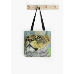 Small tote bag, with drawing of Cuute Tiger Cub