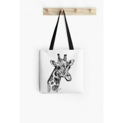 Small tote bag, of giraffe